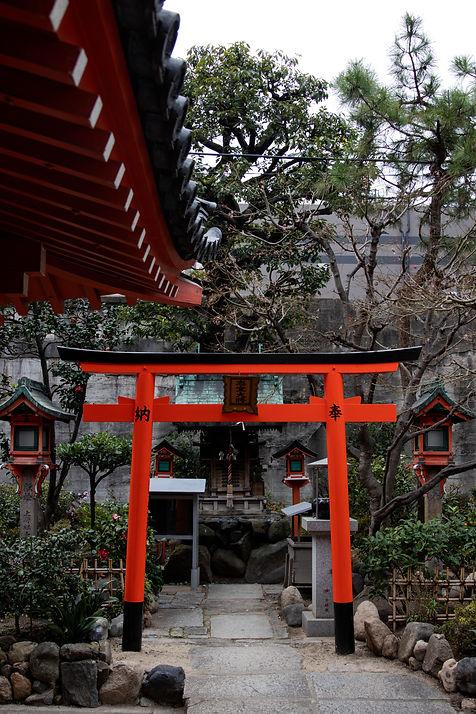 Schrein in Osaka Japan Bild von Hungrigaufmeer