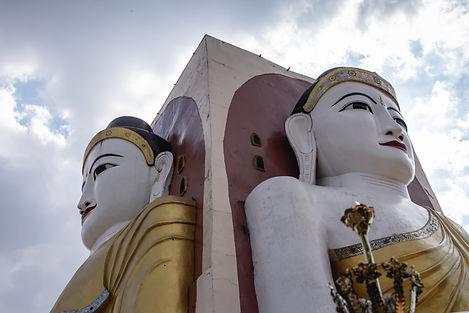 The four Buddha in Bago Mynamar travel asia travel Myanmar