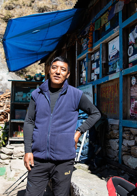 Teahouse owner in Lang Tang Valley Nepal Asia