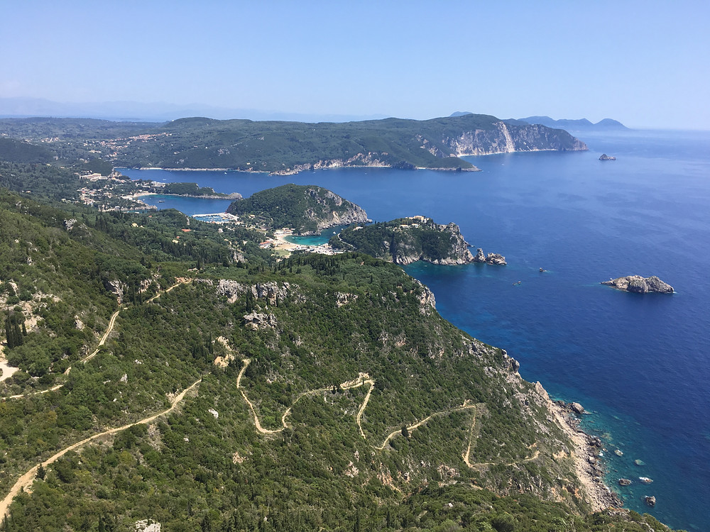 View from Angelokastro: bays from Paleokastritsa (by Hungrig auf Meer)