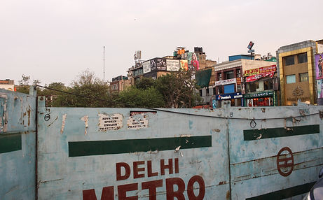 Delhi subway work in progress