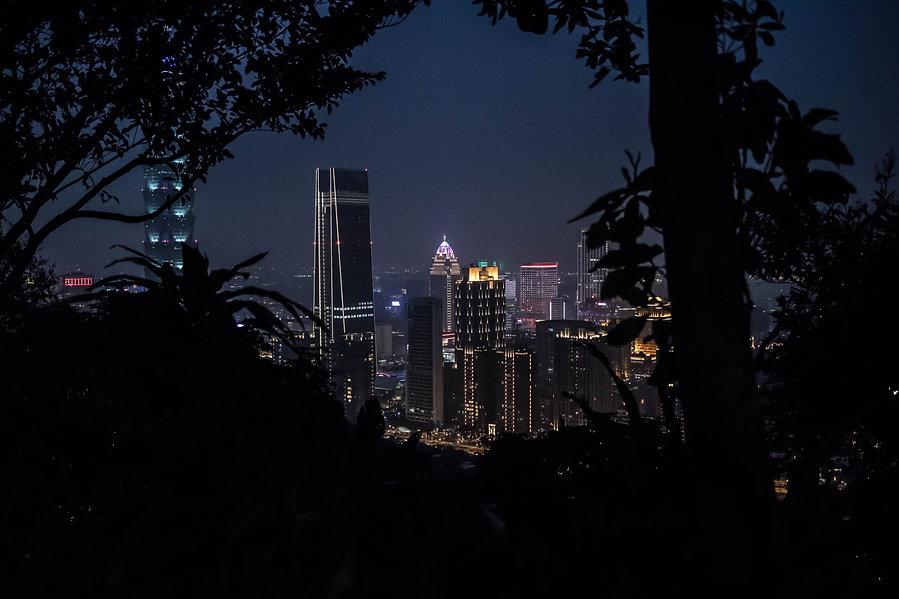 Taipei view at night from Elephant Mounain