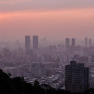 Taipei beim Sonnenuntergang