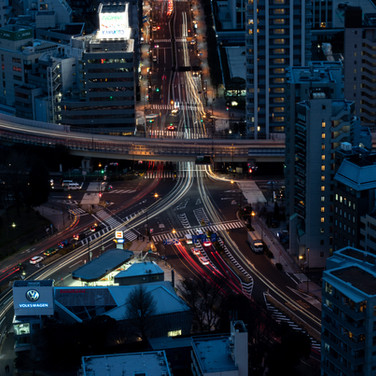 Tokio from above by night, picture by hungrigaufmeer