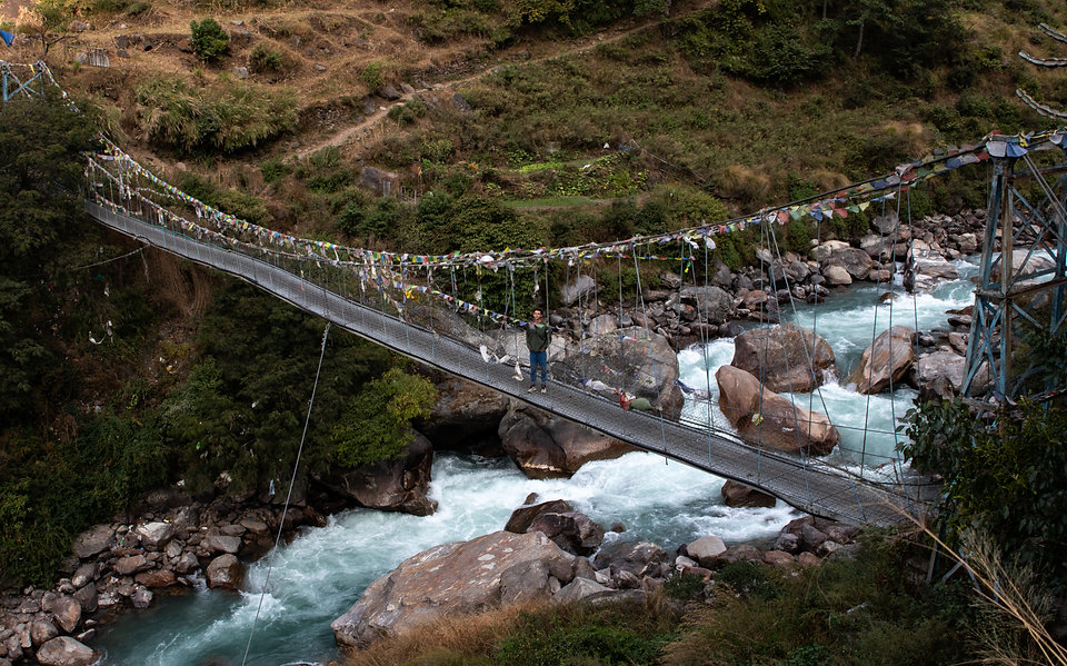 Langtang Khola bridge nepal treking