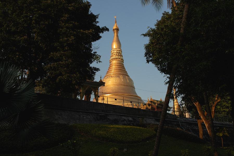 Shwedagon Pagoda in Myanmar Yangon city