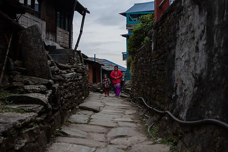 Ulleri Town in Annapurna nationl parc Nepal Asia