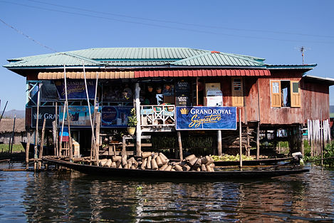 small supermarket on the inle lake in myanmar. Picture by hungrigaufmeer