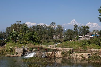 Phewa lake Pokhara Nepal Asia