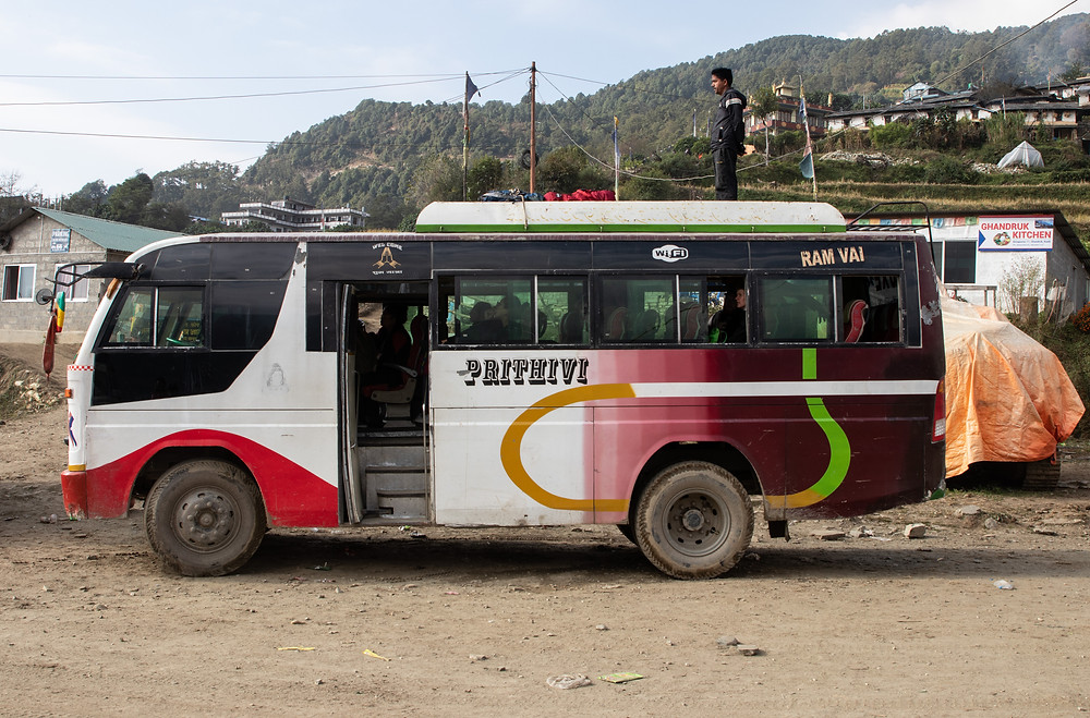Local bus that took us from Ghandruk to Pohkara (by Hungrig auf Meer)