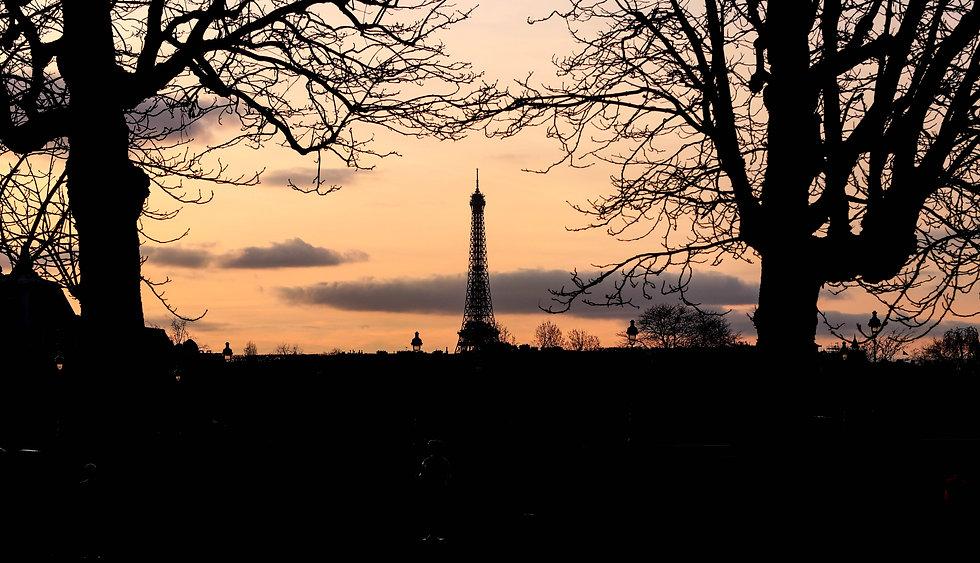 Paris Tours Eiffel sonneuntergang