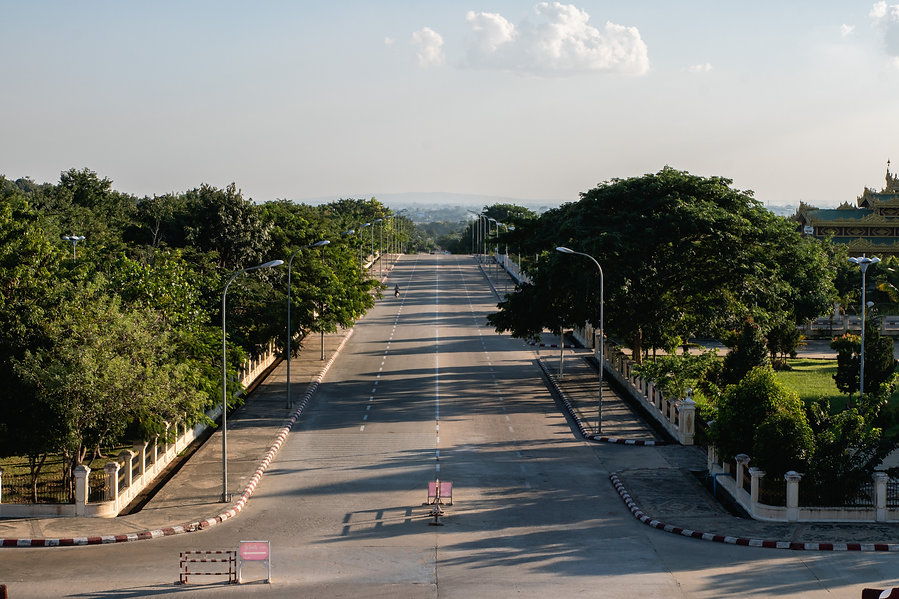 streets of naypyidaw in myanamar picture by hungrigaufmeer