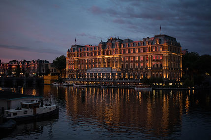 Amstel Hotel sunset Amsterdam the netherlands