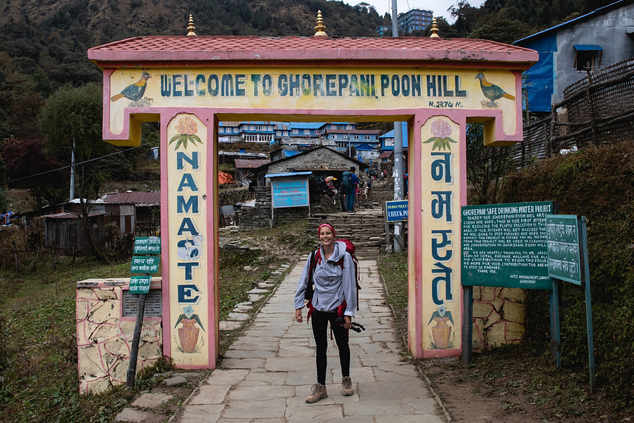 Ghorepani Poon Hill Annapurna national parc Nepal Asia