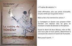 """Création d'une affiche pour la Cie Le Quasar, pour la pièce de théatre """"la colère de Déméter"""""""