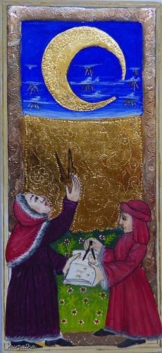 La Lune, d'après le tarot dit de Charles VI