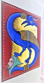 """Lettre enluminée """"S"""", inspirée d'une Initiale su 12ème s., MS 0321"""