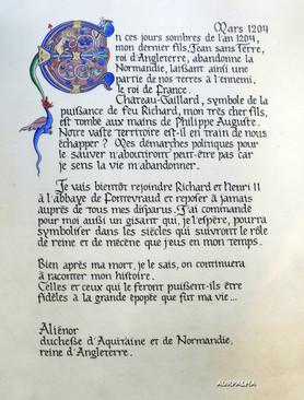 Création d'un lettrine pour le projet Alienor d'Aquitaine 2019