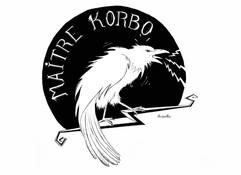 """Visuel logo pour l'auteur compositeur interprète """"Maitre Korbo"""""""