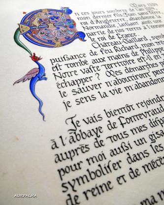 Lettrine (Détail) Projet Aliénor d'Aquitaine 2019