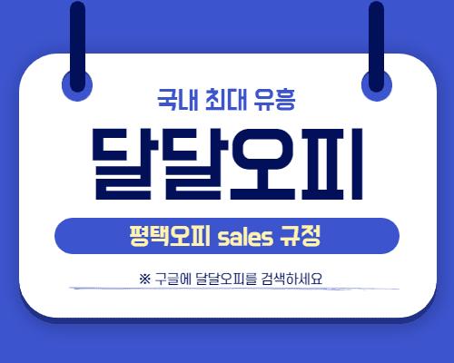 평택오피 sales 규정