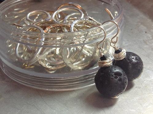 Black lava balls