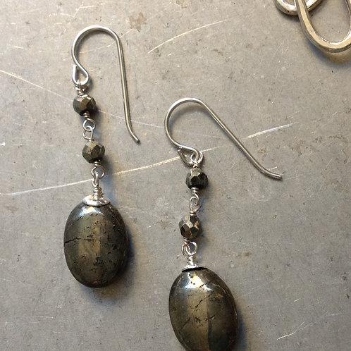 Sweet pyrite earrings