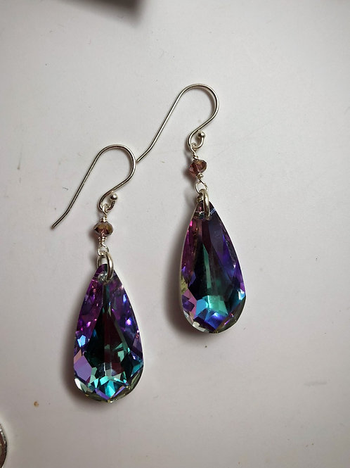 Swarovski Vitral light crystal teardrop earring