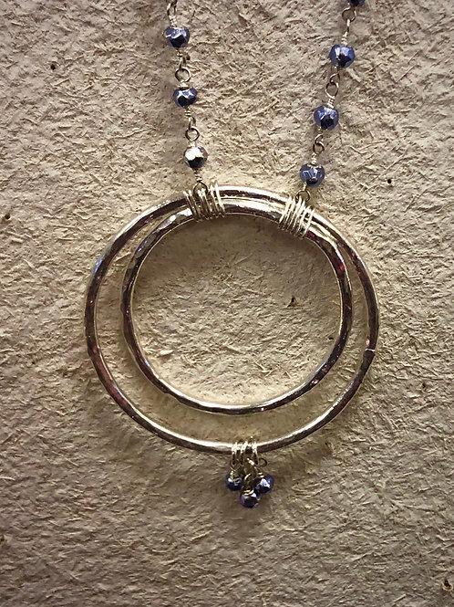 SET! Tanzanite craaaaazy cool necklace/earring