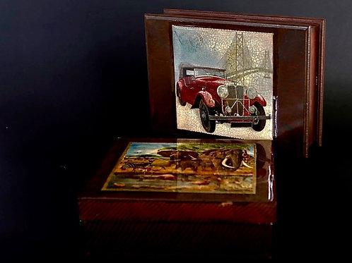 Caja de madera vitrificada