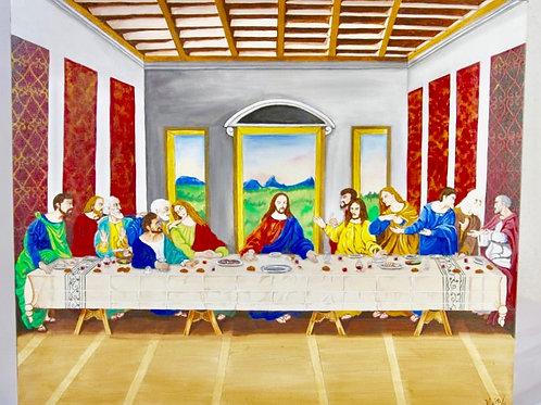 Ultima cena, acrilico sobre lienzo, 50 x 60