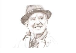 J. R. R. Tolkien in hat