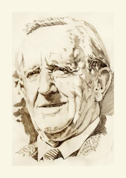 J. R. R. Tolkien in sepia