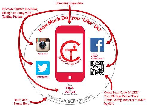 Social Media Table Cling