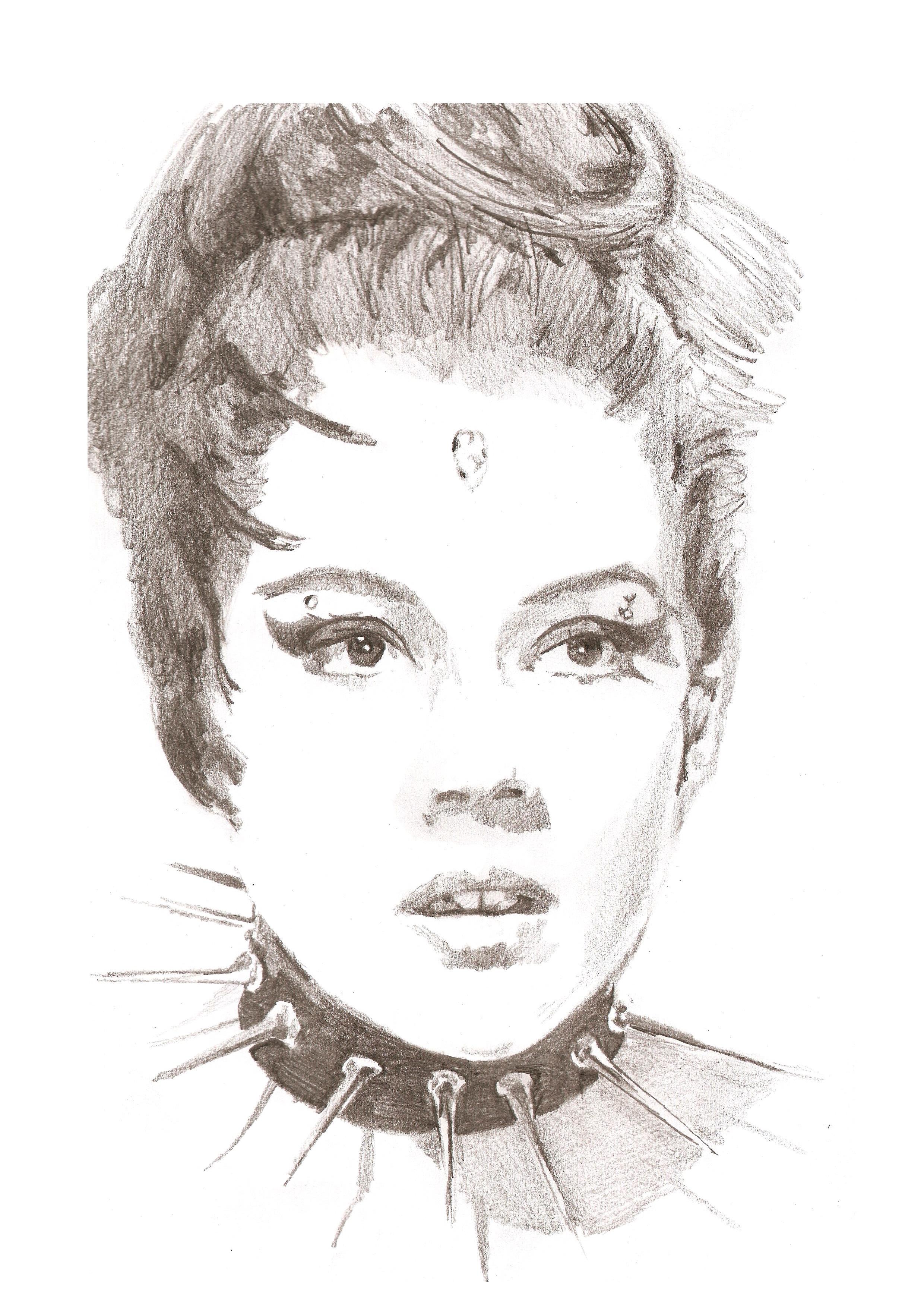 Diana Rigg as the Black Queen