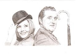 Emma Peel and John Steed