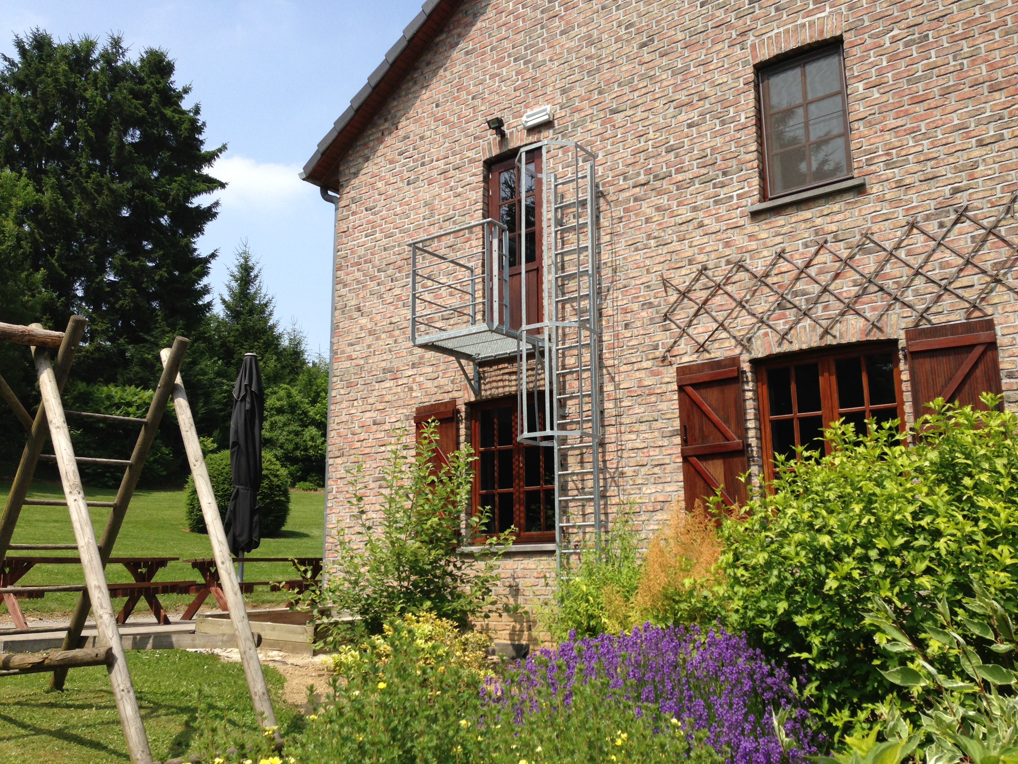 Nooddeur vakantiewoning Ardennen