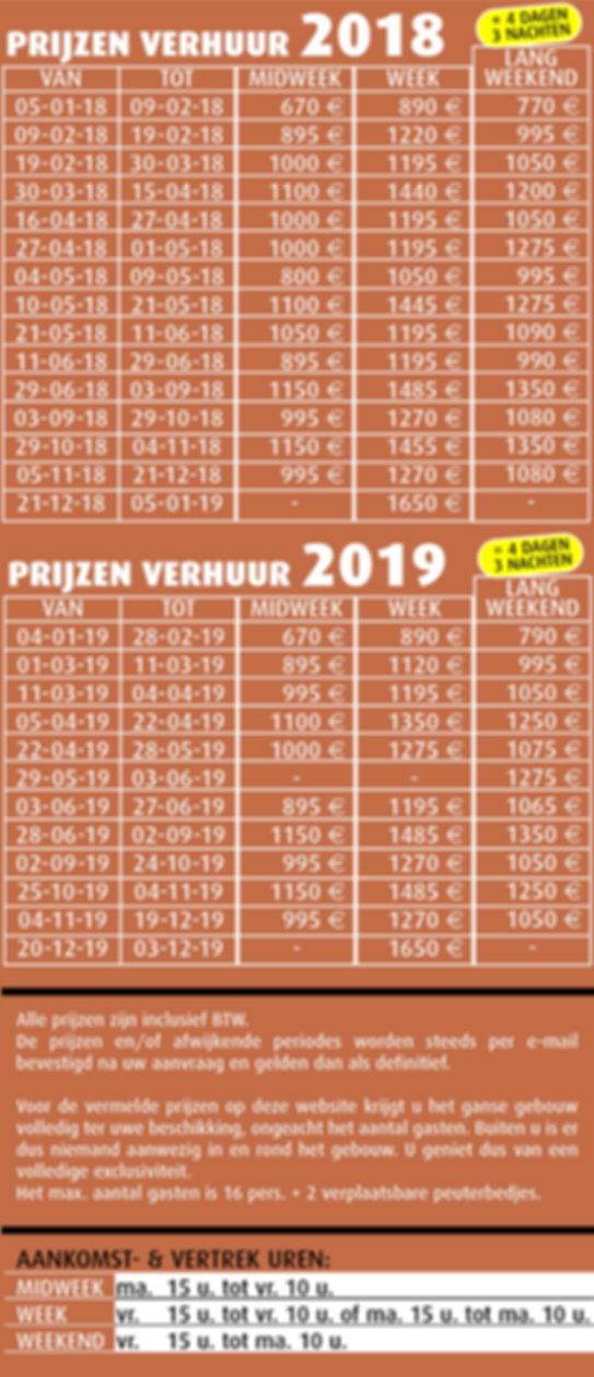 Kalender vakantiewoning
