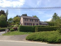 Vooraanzicht vakantiewoning Ardennen