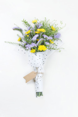 Yellow and Purple Flower Bouquet