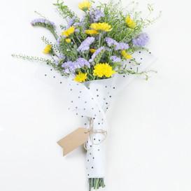 Jaune et Violet Flower Bouquet
