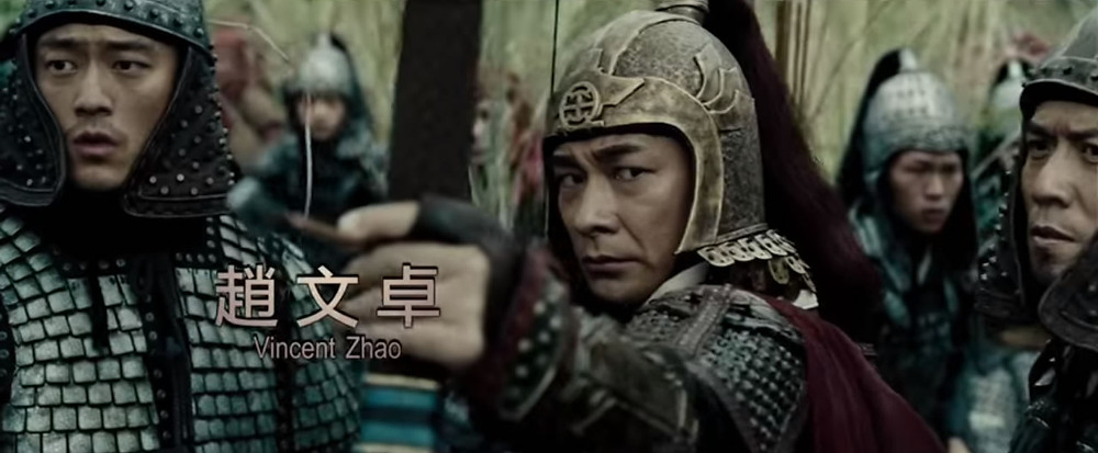 Vincent Zhao acting as General Qi Ji-Guang