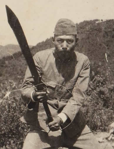 Dadao Chinese War Sword captured by Japanese soldier.