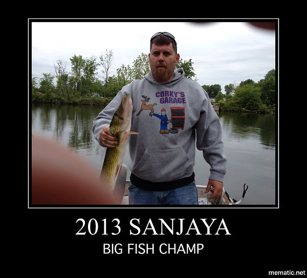 onieda lake, ny SANJAYA FISHING CHAMP