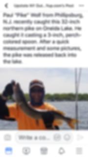 Northern Pike,Oneida Lake Pike, Bass