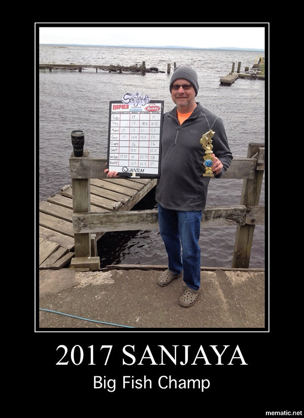 Onieda Lake, NY fishing champ