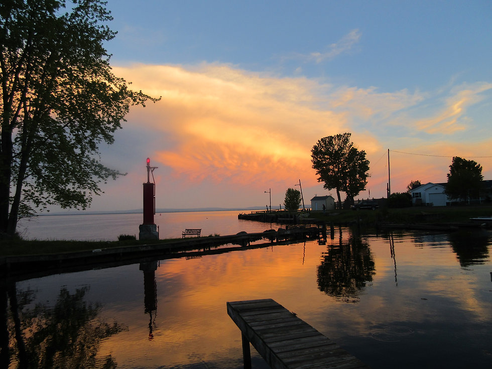 Oneida Lake NewYork snset