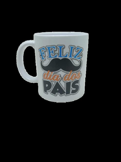 """Caneca Porcelana Personalizada """" Feliz dia dos Pais"""""""