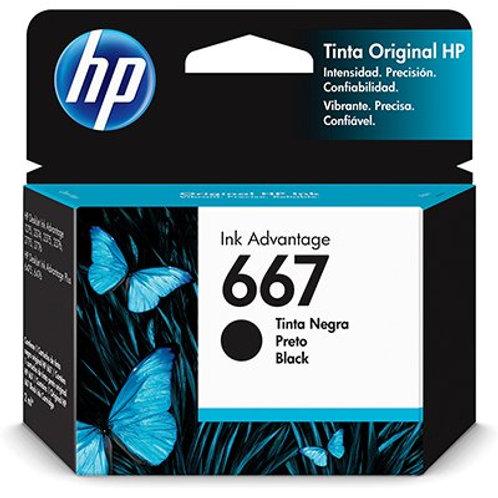 Cartucho HP 667 preto 3YM79A