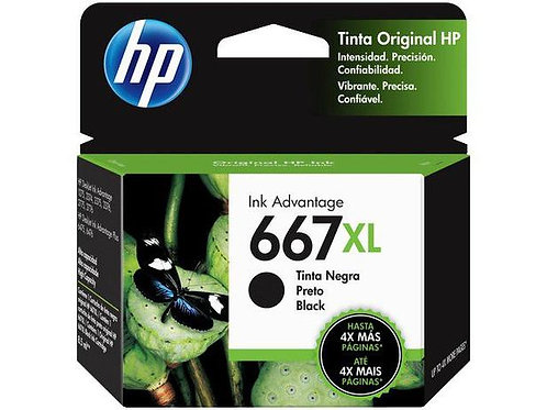 Cartucho HP 667 XL preto  8,5ml 3YM81AL